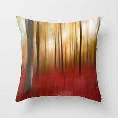 Autumn Forest Throw Pillow by Angela Bruno - $20.00 #pillow, #kissen, #cuscino, #throwpillow