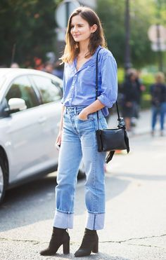 The New Way to Style Your Jeans This Winter via @WhoWhatWearUK