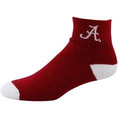 Alabama Crimson Tide Crimson-White Full Cushion Quarter Socks Alabama Football, Alabama Crimson Tide, Roll Tide, Cushion, Socks, Clothing, Closet, Outfit, Armoire
