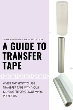 Transfer Tape helps you to move vinyl from one place to another and stay in the exact design. Join us as we talk about the different types of transfer tape. Stencil Vinyl, Cricut Vinyl, Vinyl Decals, Silhouette Curio, Transfer Tape, New Crafts, Vinyl Projects, Things To Come, Crafty