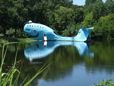Giant Blue Whale Roadside Attraction on Route 66