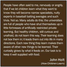 How Children Learn -John Holt
