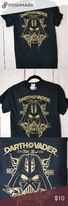 "Star Wars Darth Vader Black T Shirt Black T Shirt with Gold Image. Darth vader ""Self Made"" T-Shirt. Men's Size Small. No rips or stains. In Great Condition! Pit to Pit 17"". Length 27"". Star Wars Shirts Tees - Short Sleeve"