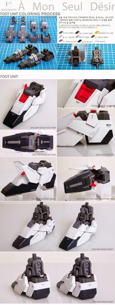Painted Build: PG 1/60 RX-0 Unicorn Gundam - Gundam Kits Collection News and Reviews Gundam Tutorial, Unicorn Painting, Unicorn Gundam, Gundam Custom Build, Gundam Art, Gunpla Custom, Mechanical Design, Gundam Model, Scale Models