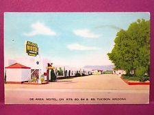 Old Postcard AZ Tucson De Anza Motel