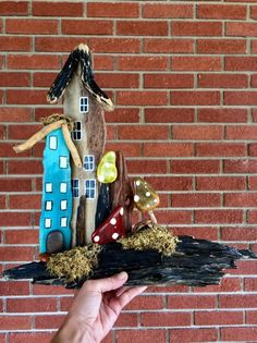 Excited to share this item from my shop: Driftwood Fairy Garden House Village Mountain Mama Mercantile OOAK River Decor Fairy Garden Houses, Bird Houses, Fairy Village, Fairy Gifts, Fairy Garden Accessories, Shed Storage, Birthday Gifts, Home And Garden, Driftwood