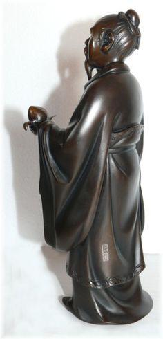 японская бронзовая статуэтка в виде одного из Семи Богов Счастья, 1900-е гг.