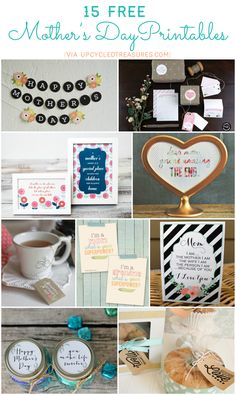 15-free-mother's-day-printables roundup  #freeprintables #mothersdayDIY #mothersdayprintables #roundup of tags, cards signs labels, gift of service coupons, etc. upcycledtreasures http://upcycledtreasures.com/2014/05/15-free-mothers-day-printables/   2014