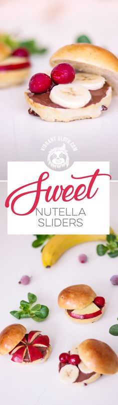 Nutella sliders, here we go! Who the hell said that burgers or sliders, more specifically, have to have meat, cheese and other burgery stuff for ingredients?  Keywords: Nutella, Nutella recipes, Nutella sliders, Nutella desserts, Nutella cake, Nutella cookies, Nutella pancakes, Easy dessert, Simple dessert, Homemade, Super Bowl Snacks