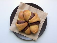 Pan brioche with chocolate