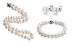 75% Off: Freshwater Pearl Necklace, Bracelet, and Earrings Set ONLY $19 Shipped!