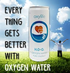 Kyslikova voda. Oxylife oxygenated water from Prague
