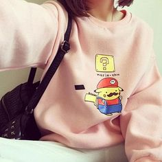 Spoof Pikachu Cosplay Mario Hoodie Harajuku Fleece Long Sleeve Sudaderas Mujer 2017 Loose Moletom Feminino Women Sweatshirt C115