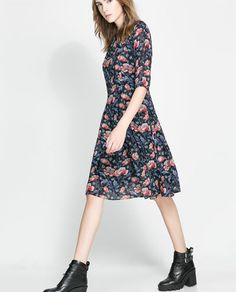 ZARA - WOMAN - FLORAL DRESS WITH FULL SKIRT