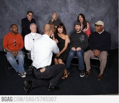Proposing in front of the Star Trek TNG cast. Got a facepalm.