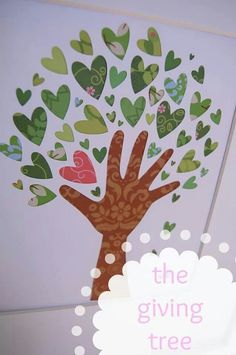 Patterned paper. Good idea for craft to go along with The Giving Tree by Shel Silverstein.