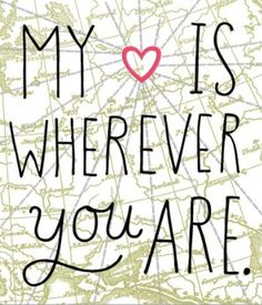 """""""My Heart Is Wherever You Are."""" This Valentine's Day, put your love on the map with this adorable, customizable card from Hallmark. Add in your love's name and craft the perfect inside message. We'll stamp and send your Valentine for you!"""