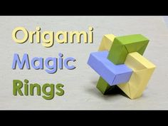 "Origami Tutorial: Impossible Rectangle ""Umulius Rectangulum"" aka Magic Rings (Thoki Yenn) - YouTube"