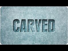 How to: Carved Text (Photoshop) - YouTube