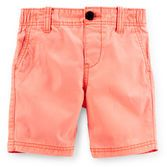 Crisp and easy to match with his favorite shirts, these peached canvas shorts are a great fit for your boy's outfits.<br>