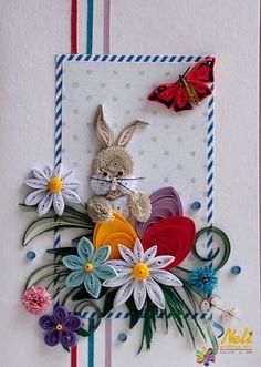 Neli Quilling Art: Easter card (10.5 см - 14.8 см )