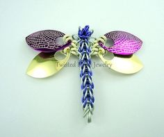 Dragonfly Tutorial Chainmaille with scales, PDF instructions, intermediate level