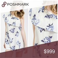 Open shoulder floral top Open shoulder floral dress or top. S=2-4, M=6-8, L=10-12. Like to be notified when in! Unity Blend Dresses One Shoulder