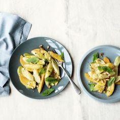 Schwarzwurzel-Kaki-Salat