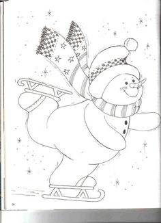Christmas Coloring Pages - Snowman Christmas Coloring Pages, Coloring Book Pages, Christmas Colors, Christmas Snowman, Snowman Quilt, Christmas Drawing, Theme Noel, Christmas Embroidery, Applique Patterns