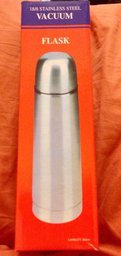 New Vacuum Flask Stainless Steel Coffee Bottle Thermos 500 ml w Case Promo Item   eBay
