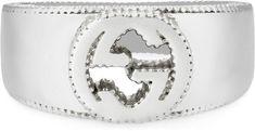 Interlocking G ring in silver