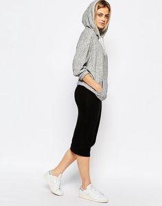 Boohoo+Jersey+Midi+Skirt