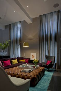 love the curtains.. color and fabric!