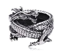 Stainless Steel Antique Finish Dragon Ashtray for Men : iMens Jewelry