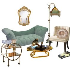 To get the Gatsby-inspired look in your own home, we've rounded up a mix of Art Deco décor, essentials (ashtray and bar cart included, of course) and a nod to the novel with a Rolls-Royce figurine. 1920s Furniture, 1920s Home Decor, Lounge, Fashion Mode, Of Wallpaper, My New Room, Vintage Decor, Decoration, Room Inspiration