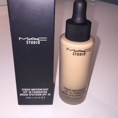 New MAC studio waterweight foundation NC30 The brand new foundation addition to the MAC brand. A flawless finish foundation with a easy to use dropper applicator. A medium to full coverage with a slight dewy finish. Brand new never used with box. Shade is NC30 MAC Cosmetics Makeup Foundation
