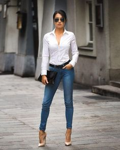 Women Jeans Outfit Drawstring Trousers Mens Fashion Sale Petite Ankle Grazer Trousers Ladies Velvet Trousers Mens Lightweight Trousers Jeans And Heels Outfit – gladiolusrlily Heels Outfits, Outfit Jeans, Jean Outfits, Classy Outfits, Chic Outfits, Fashion Outfits, Work Outfits, Jeans Fashion, Fashion Heels