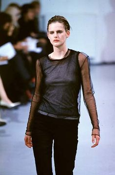 Helmut Lang, fw 1997 Urban Fashion, 90s Fashion, Couture Fashion, Fashion Photo, High Fashion, Fashion Brands, Helmut Lang, Stella Tennant, Urban Cowboy