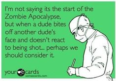 Zombie apocalypse? Something to think about.