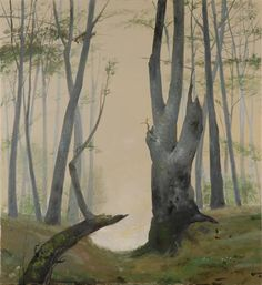 the grand bastard: Photo Op Art, Eyvind Earle, Magic Realism, Famous Words, Art Database, Garden Trees, Short Film, Oil On Canvas, Iron