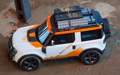"""Land Rover DC100 Concept (the """"new Defender"""") aerial view"""