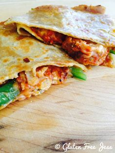 Spicy Meatball Quesadillas {Gluten Free}