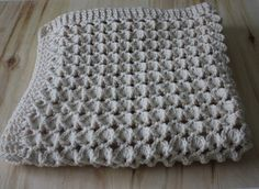 Super soft Crochet Cream Rosa's Marshmallow Shell Stitch, Handmade Newborn Baby Blanket, Photography Props Blanket, Car seat tent canopy by ufer on Etsy