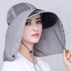 a3227bfb14f86 Mesh sun hat with neck protection for summer UV womens outdoor sun hats