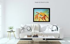 "Sally Lightfoot Crab Watercolor Art Print Beach House Picture Seashore Painting Marine Life Artwork Shore Life Seaside Large Format 16x20"" #SallyLIghtfootcrab #crabs #crabwatercolor #watercolorprints #prints #crabpainting #crabpicture #wallart #homedecor #officedecor #interiordesign #colorfulcrab #watercolor #beachdecor #beachhouse #interiordecoration #SycamoreWoodStudio Beach House Pictures, Sycamore Wood, Beautiful Wall, Watercolor Print, Marine Life, Fine Art Paper, Wall Decor, Wall Art, Fine Art Prints"