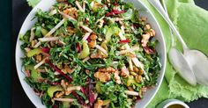 What& easy to prepare and is packed with nutrients, fibre and flavour? The humble silverbeet makes a comeback in this slaw. It& vegan and no cook - so it& super easy to prepare. Beet Recipes, Slaw Recipes, Whole Food Recipes, Cooking Recipes, Healthy Recipes, Spinach Recipes, Recipies, Savoury Recipes, Protein Recipes