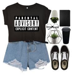 """""""don't be afraid to fail. be afraid not to try."""" by emilypondng ❤ liked on Polyvore featuring Vans, Moleskine and ZeroUV"""