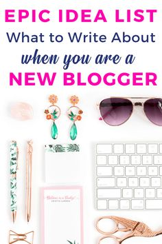 This is an epic list of what to write about as a new blogger. Learn how to pick a blogging niche and create a list of topics to blog about. This is perfect for new bloggers or bloggers that need more help! What To Write About, Blog Topics, Budgeting Money, Creating A Blog, Writing Tips, Creative Writing, Blogging For Beginners, Make Money Blogging, Blogging Niche