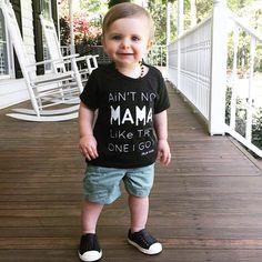 Ain't no Mama like the one I got Too cute! Thanks @stephaldridge for sharing! | Shop www.stellar-seven.com | #stellarseven #aintnomamaliketheoneigot #instakids #kidsfashion #kidsootd #shopsmall