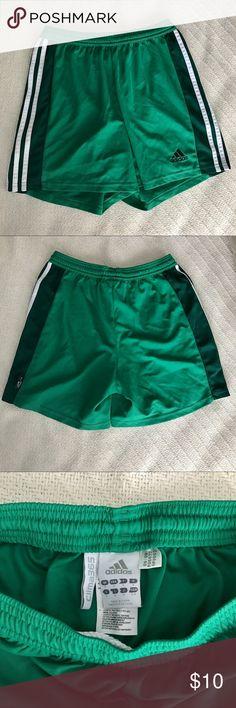 adidas athletic shorts green adidas athletic shorts - size small - worn once!! adidas Shorts